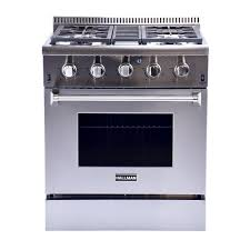 Gas Range With Gas Oven Hallman 30 In 42 Cu Ft Professional Convection Gas Range In