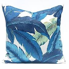 Outdoor Pillow Cover Tommy Bahama Swaying Palms Escape Blue