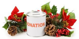 Christmas charity donation tin