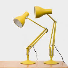 type 75 desk lamp margaret howell yellow ochre edition