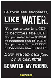 Bruce Lee Water Quote Inspiration Casper Me 'Bruce Lee BE Like Water' Motivational Quote 48 GSM