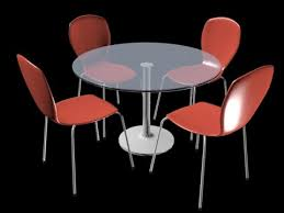 tutorial autodesk 3ds max round glass dining table and chairs modeling