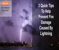 3 quick tips to help prevent lightning fire damage servpro of south durham orange county