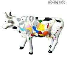 cow statues for garden china garden decoration colorful painting fiberglass sculpture life size cow statue china