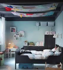 Black Blue Bedroom