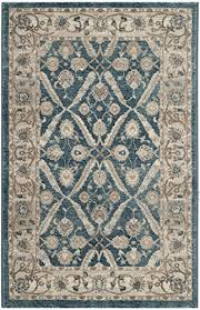 safavieh sofia collection sof378c vintage blue and beige distressed area rug 4 x 5