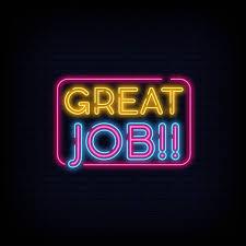 Good Job Template Great Job Neon Sign Vector Great Job Design Template Neon