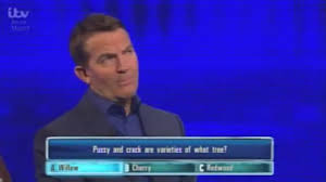 Bradley Walsh struggles to contain himself over pussy question.