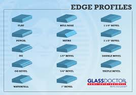 where to get glass for table top glass doctor edge profiles