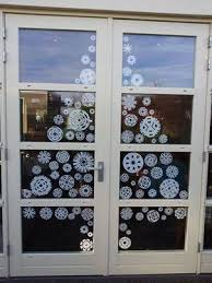 Window Decoration Christmas Tree Made From Paper Snowflakes