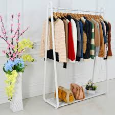 Apparel Display Stands Wrought iron coat rack clothing display shelf floor hangers home 94