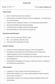 ... Hr Templates Resume format Mba 1 Year Experience Lovely Resume format  Mba 1 Year Experience Unique Over Cv ...