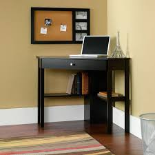 image of new black corner computer desk