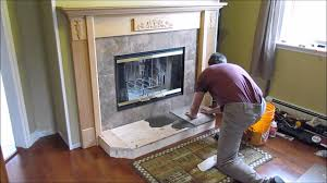 fireplace install 7 of 9 hearth and tile
