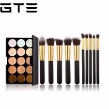 gte 15 colors concealer camouflage makeup palette 10pcs makeup brush kit for cosmetic cm