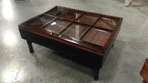 coffee table r e h kennedy military glass top display shadow box regarding coffee table glass top