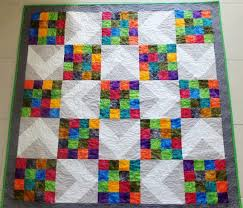 128 best Patchwork Quilts I have made images on Pinterest | Etsy ... & Colourful modern patchwork quilt lap quilt throw by StephsQuilts Adamdwight.com