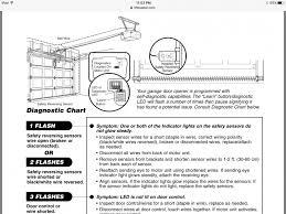 chamberlain garage door opener 3280 267 rapid and continuous flashing of lights
