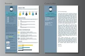 Modern Resume Infographics Resume And Cover Letter Collection Modern Cv Set With Infographics Elements