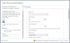 Confluence Gantt Chart Macro Confluence Gadget Structure Gantt Documentation Alm