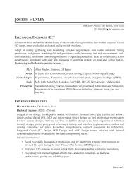 Resume Template Electrician Sample Resume For An Electrical Engineer