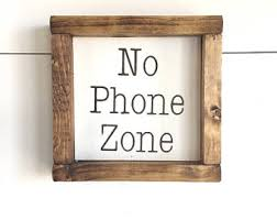 no phone zone sign etsy