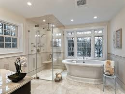 traditional master bathrooms. Traditional Master Bathroom With Freestanding Bathtub, Handheld Shower Head, Frameless Showerdoor, Limestone Counters Bathrooms P
