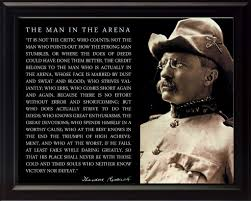 Theodore Teddy Roosevelt The Man In The Arena Quote 8x10 Framed Picture Cowboy Hat Photo
