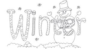 Small Picture Winter Season Coloring Pages Winter Coloring Pages Free