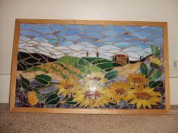 mosaic wall art kits inspirational tuscan sunflower field art glass mosaic wall hanging landscape