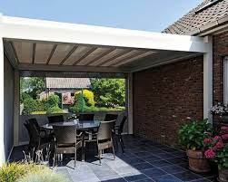 patio canopies louvred roof and lean