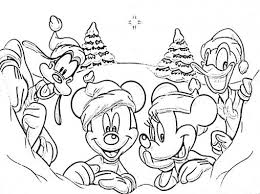 Small Picture Coloring Pages Mickey And Friends Christmas Coloring Pages