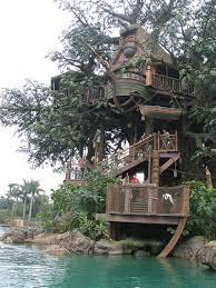 image of beautiful swiss family robinson tree house