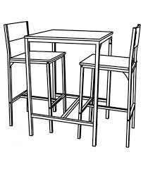 Ensemble table haute + 2 chaises