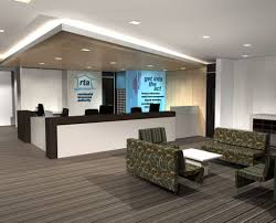 Chic Composite Flooring Ideas For Modern Office Reception Area Design With  Stylish Recessed Lighting