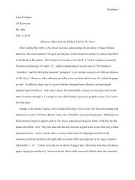 the road mccarthy essay