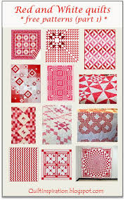 Quilt Inspiration: FREE PATTERN Archive & Red and White quilts - Part 1 Adamdwight.com