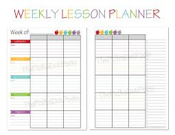 Teacher Weekly Planner Template