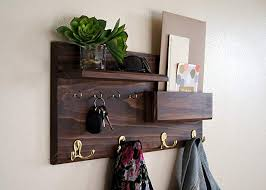 Coat Rack And Storage Simple Amazon Coat Rack Mail Storage Key Hooks Entryway Organizer