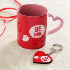 heart shaped mug with keychain