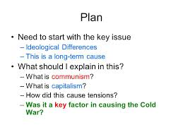 origins of the cold war essay plan ppt video online  3 plan