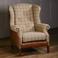 traditional wingback chairs. Althrop Topaz And Brown Cerato Traditional Wingback Chairs E