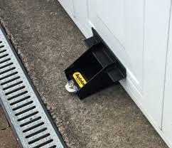 image of simple garage door emergency release lock