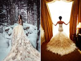30 gorgeous wedding dresses with feather details praise wedding