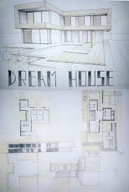 modern architectural sketches. Simple Architectural Modern House Drawing  Student Daniel Brown And Architectural Sketches