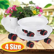 plant pot stands round wheels mover