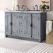 Laurel Foundry Modern Farmhouse Coby 55 Double Bathroom Vanity Set Reviews Wayfair