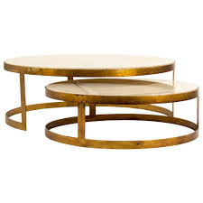 nesting coffee table round portia global ivory stone gold nest tables kathy kuo home nesting
