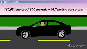 Steps To Miles Conversion Chart Approximate How To Convert Miles Per Hour To Meters Per Second