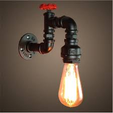 2019 loft industrial light iron rust water pipe retro wall lamp vintage e27 sconce lights for living room bedroom restaurant bar from sally